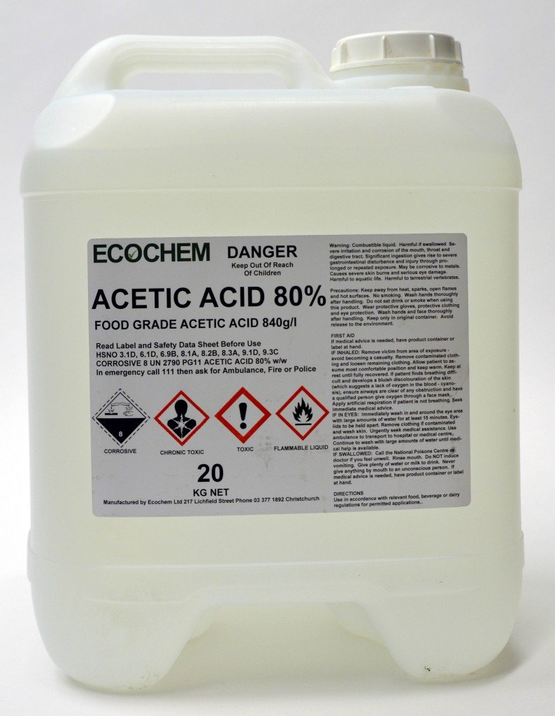 Acetic Acid Food Grade 80 Ecochem Limited