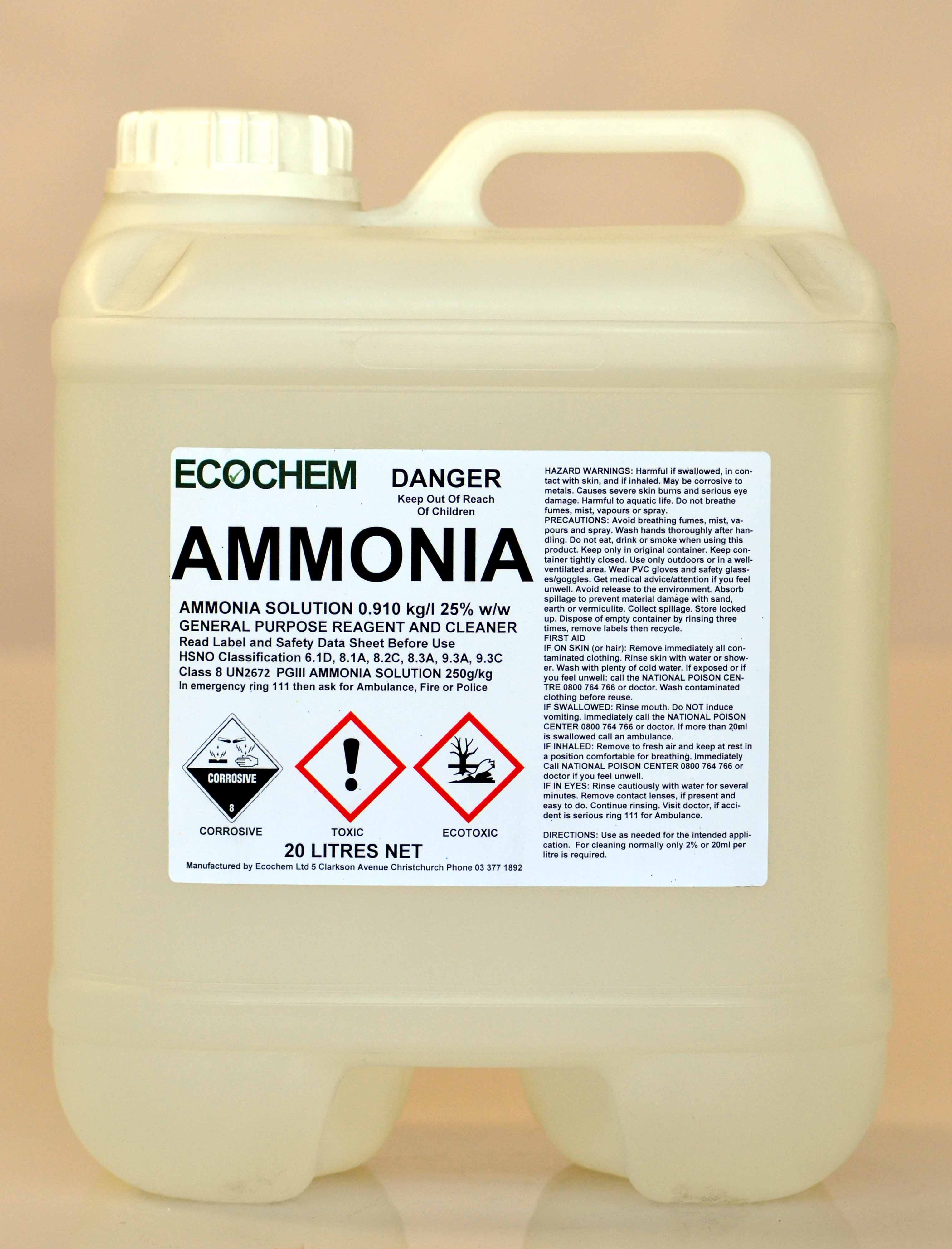 Ammonia 910 Ammonium Hydroxide Solution Ecochem