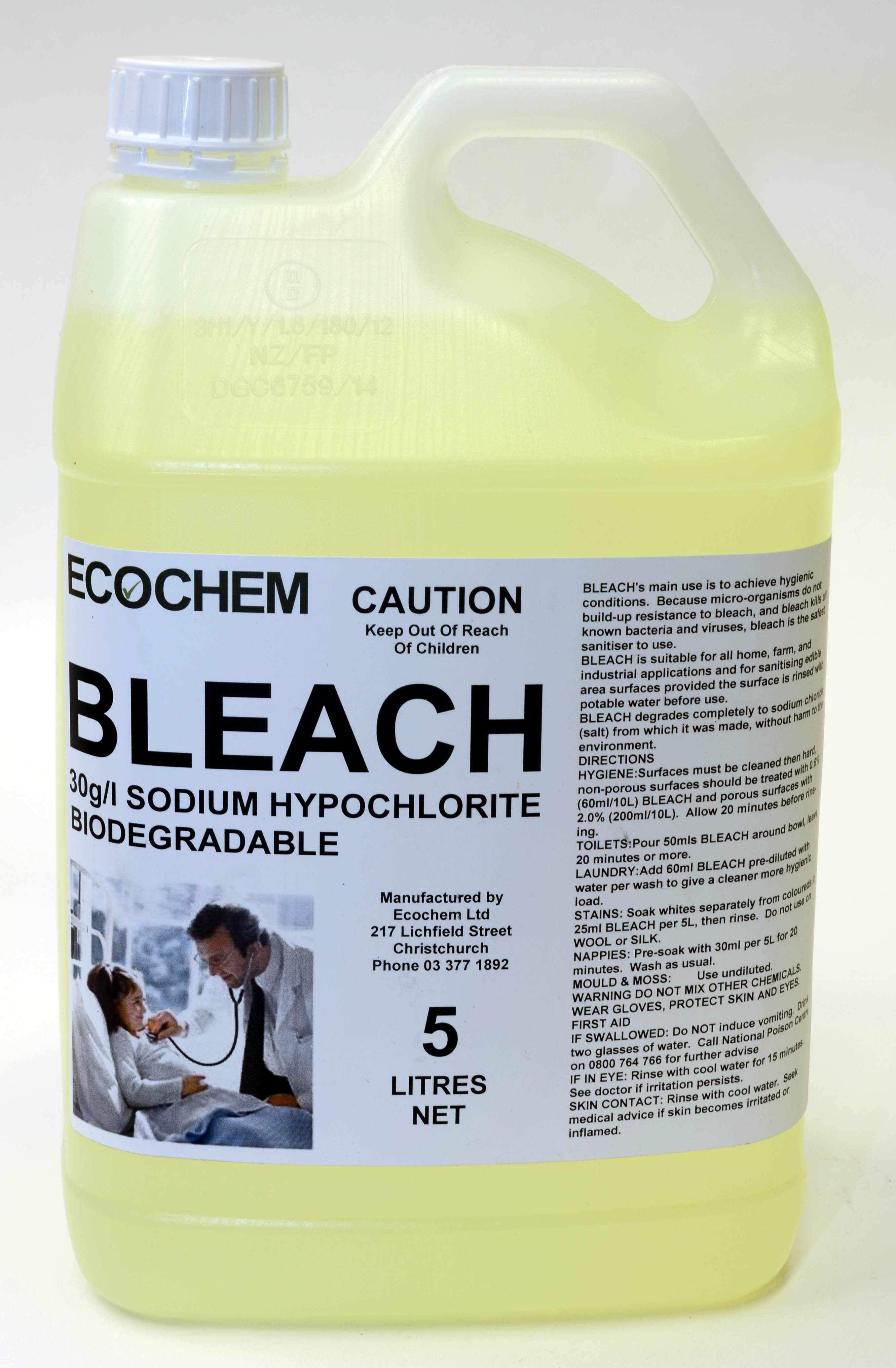 Bleach 30g L Sodium Hypochlorite Ecochem Limited