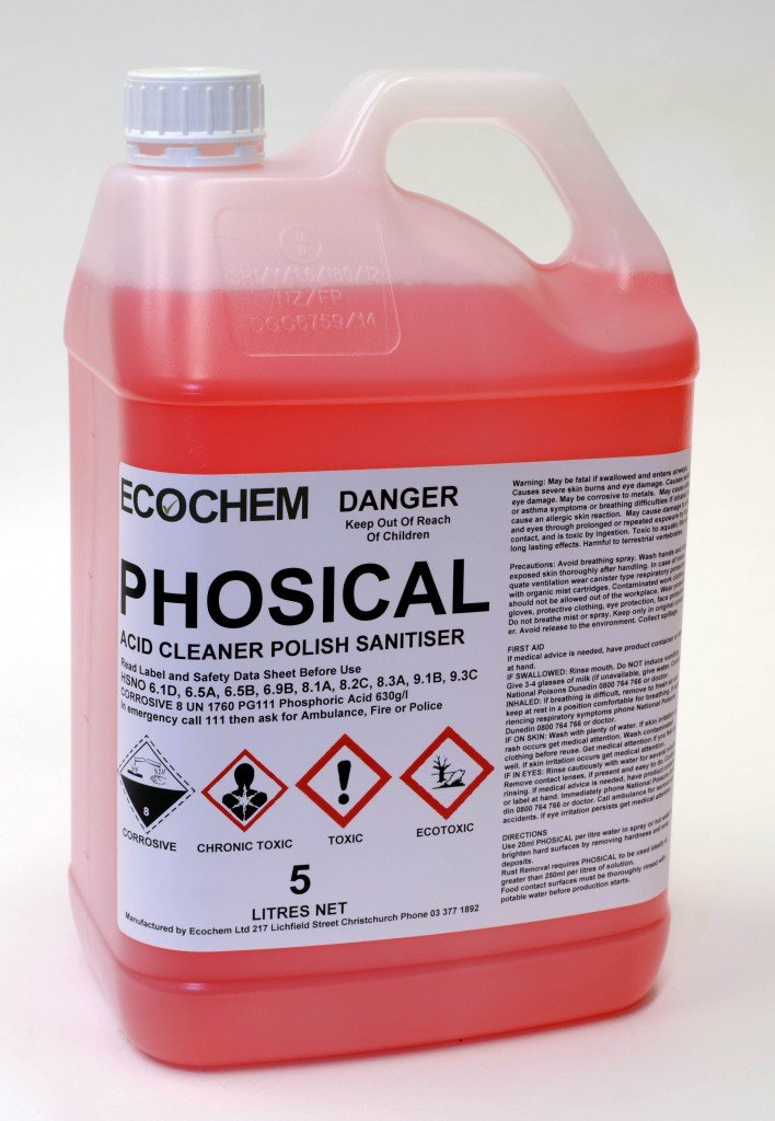 Phosical Phosphoric Acid Cleaner Amp Sanitiser Ecochem