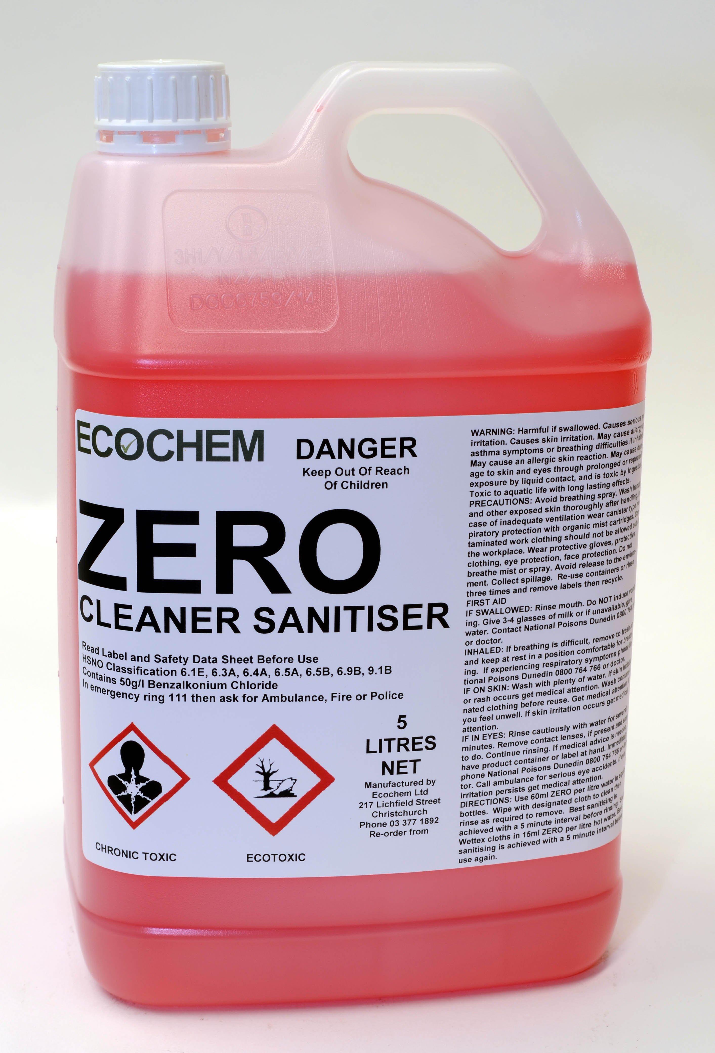 Zero Food Safe Cleaner Sanitiser Ecochem Limited