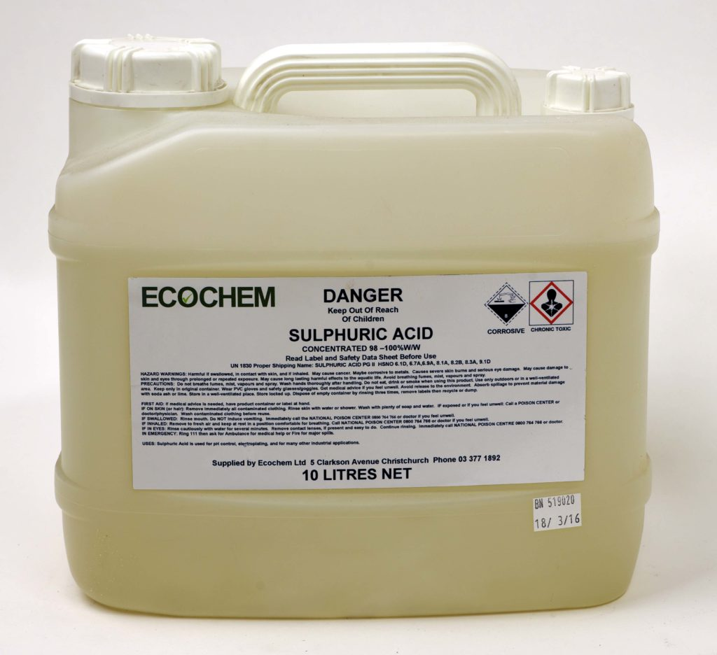 Sulphuric Acid 98 Ecochem Cleaning Products