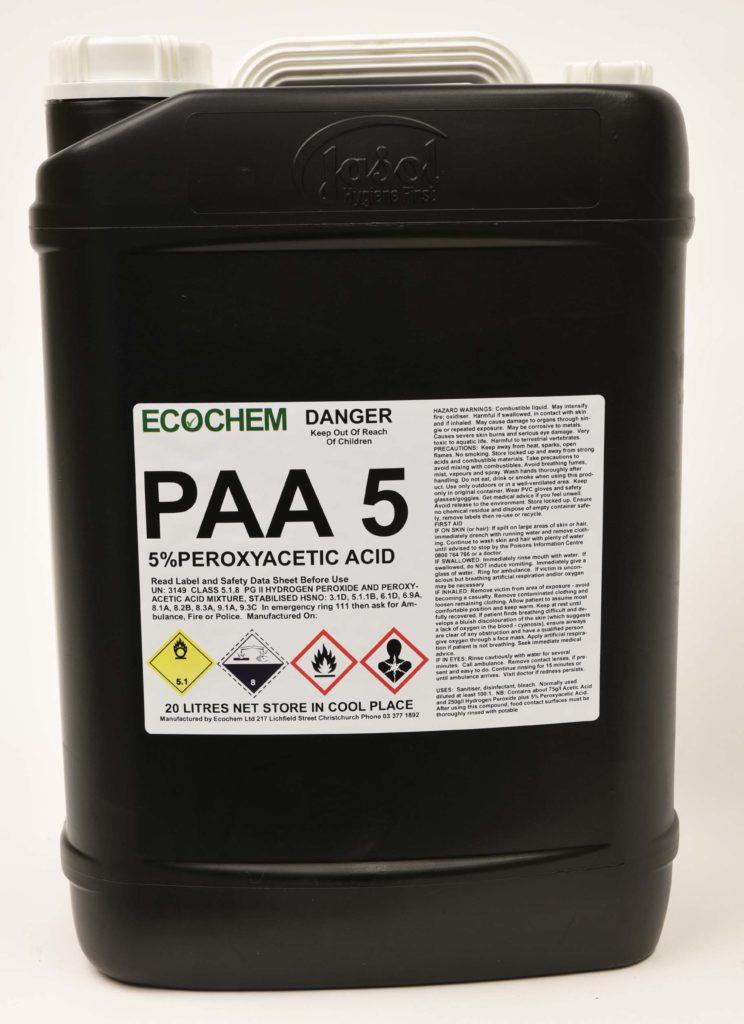 Paa 5 5 Peroxyacetic Acid In Hydrogen Peroxide