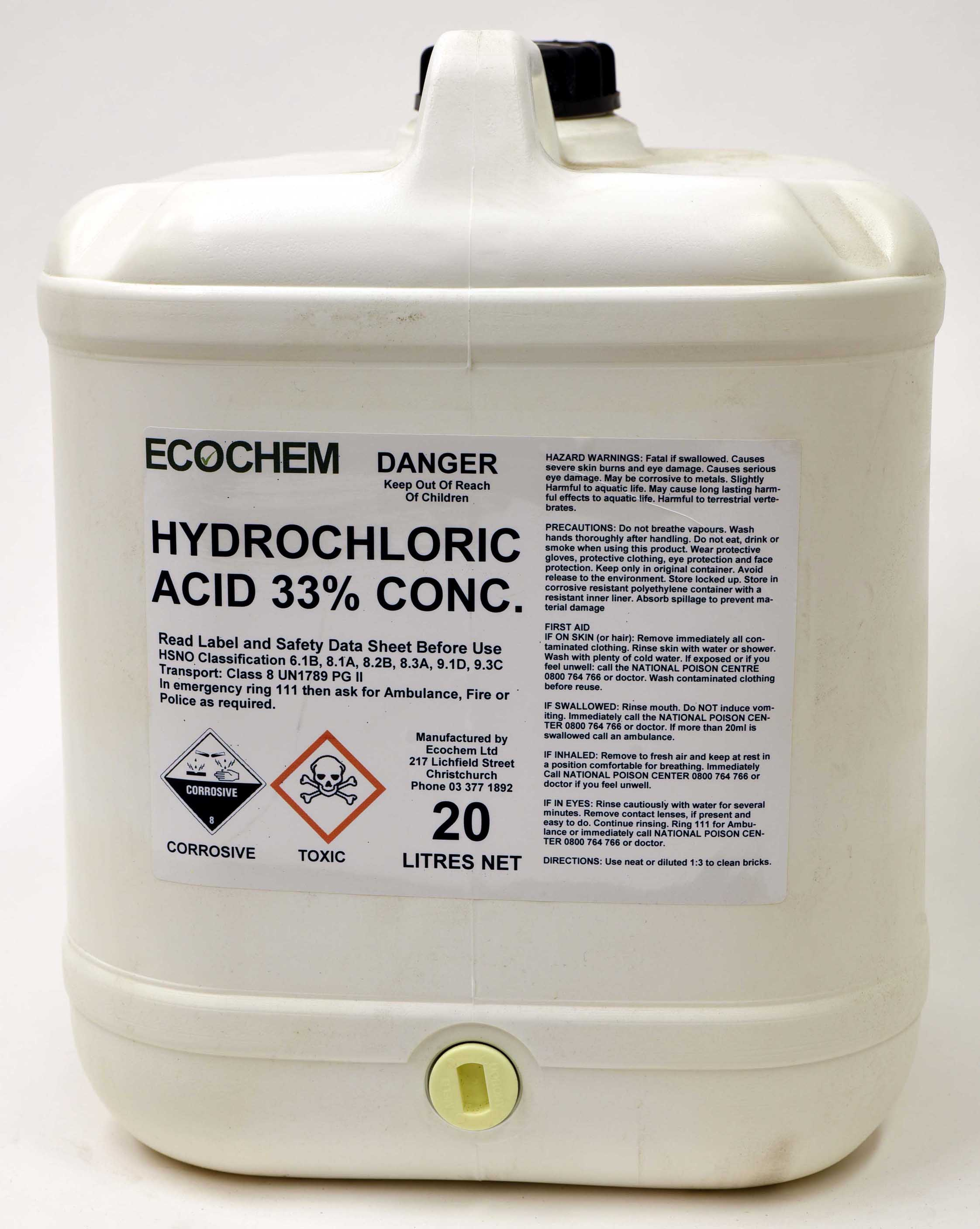 Hydrochloric Acid Concentrated 33% w/w
